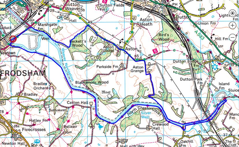 Weaver Valley Walk route