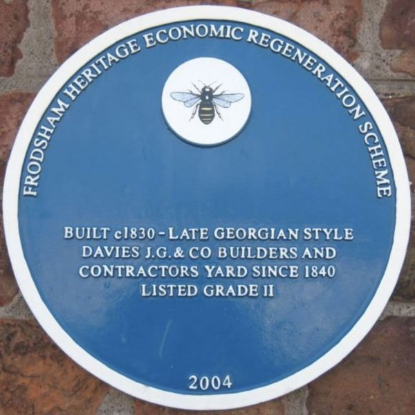 frodsham blue plaque 15 brook house 38 main street