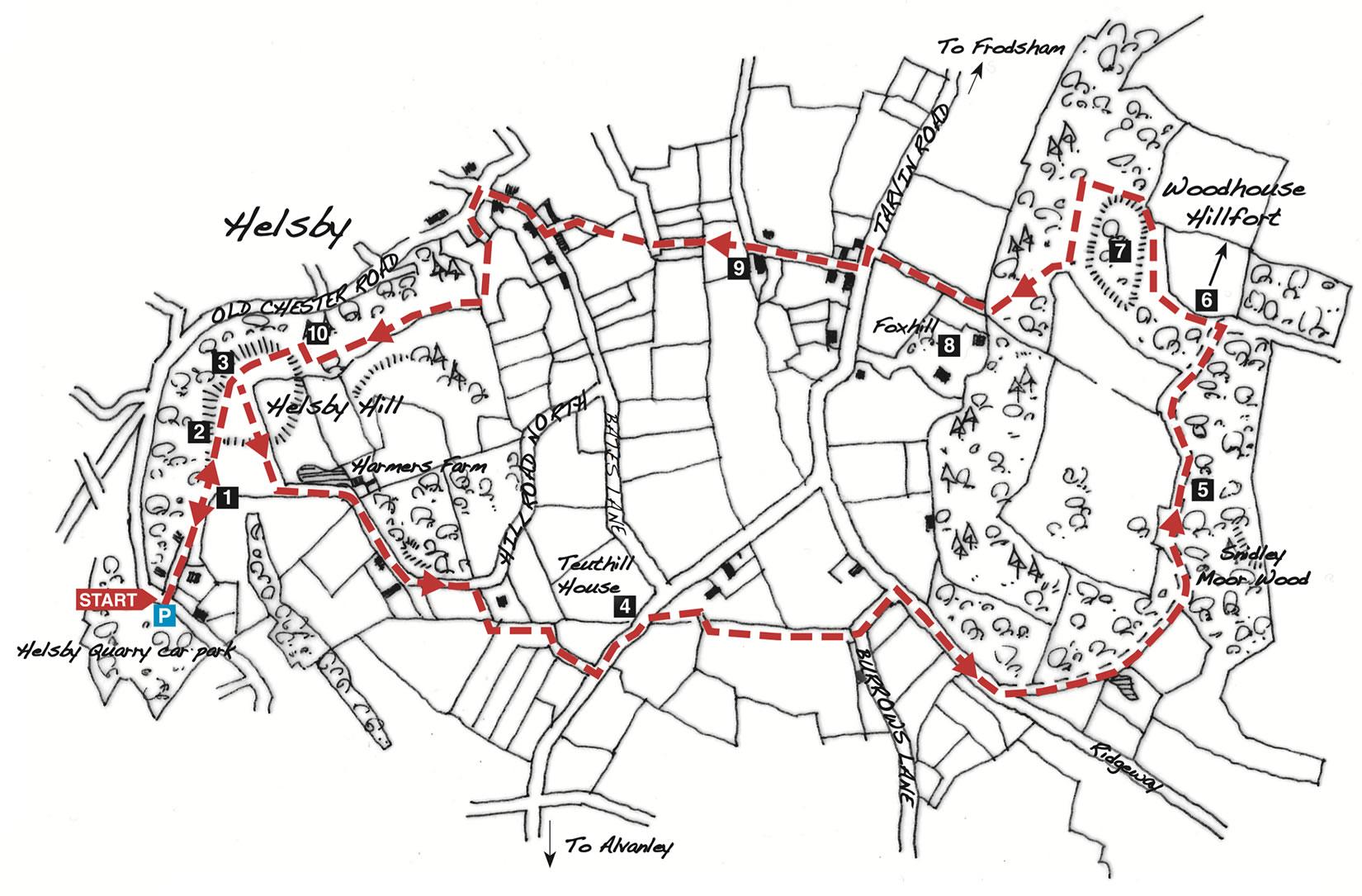 helsby woodhouse hillfort walk 2021