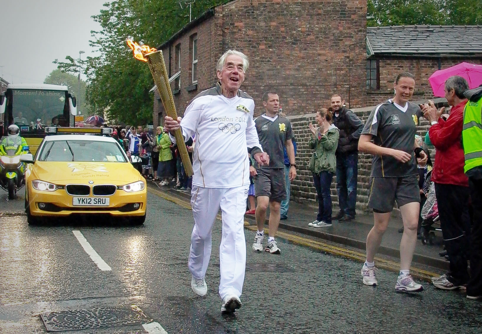 In 2012 Joe Beswick Olympic torch Macclesfield
